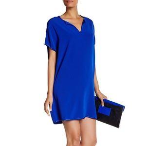 Diane von Furstenberg Kora Blue Silk Tunic Dress S